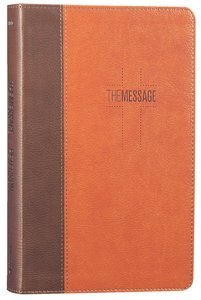 Message Deluxe Gift Bible Brown Tan (Black Letter Edition)