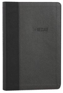 Message Deluxe Gift Bible Black Slate Leatherlike (Black Letter Edition)