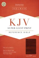 KJV Super Giant Print Reference Bible Brown Indexed Imitation Leather