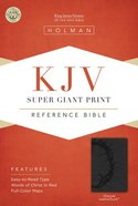 KJV Super Giant Print Reference Bible Charcoal Imitation Leather