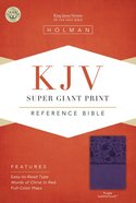 KJV Super Giant Print Reference Bible Purple Imitation Leather