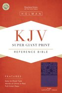 KJV Super Giant Print Reference Bible Purple Indexed Imitation Leather