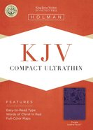 KJV Compact Ultrathin Bible Purple Imitation Leather