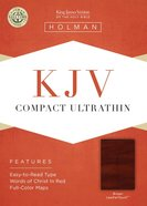 KJV Compact Ultrathin Bible Brown Imitation Leather