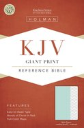 KJV Giant Print Reference Bible Mint Green Indexed Imitation Leather