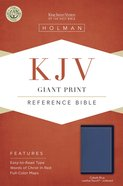 KJV Giant Print Reference Bible Cobalt Blue Indexed Imitation Leather