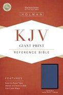 KJV Giant Print Reference Bible Cobalt Blue Indexed Imitation Leather