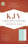KJV Large Print Ultrathin Reference Bible Mint Green Indexed Imitation Leather