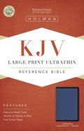KJV Large Print Ultrathin Reference Bible Cobalt Blue Indexed Imitation Leather
