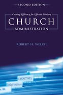 Church Administration Paperback