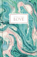 Journal: Love, Pink and Teal Marble, CSB Verses Throughout