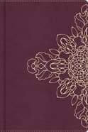 Journal: Burgundy With Floral Motif, CSB Verse on Every Page
