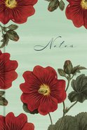 """Journal: Red Blooms """"Notes"""", Scripture Notes Journal, CSB Verse on Every Page"""