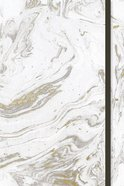 Journal: White Marble With Elastic Band, CSB Verse on Every Page