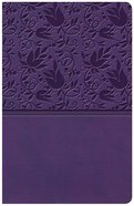 KJV Large Print Personal Size Reference Bible Purple Indexed (Red Letter Edition) Imitation Leather