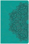 KJV Large Print Personal Size Reference Bible Teal (Red Letter Edition) Imitation Leather