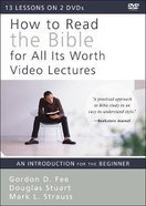 How to Read the Bible For All Its Worth: An Introduction For the Beginner (Video Lectures) DVD