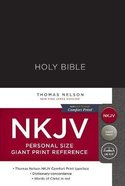 NKJV Reference Bible Personal Size Giant Print Black (Red Letter Edition) Hardback