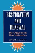 Restoration and Renewal Paperback