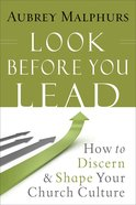 Look Before You Lead: How to Discern & Shape Your Church Culture Paperback