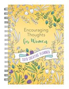 2019 15-Month Creative Diary/Planner: Encouraging Thoughts For Women, Yellow Floral