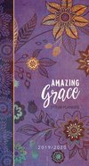 2019/2020 2 Year Pocket Diary/Planner: Amazing Grace (Purple With Orange Flowers)
