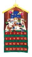 Advent Calendar Felt Fabric:24 Pieces With Velcro Backs