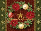 Christmas Boxed Cards: Season's Greetings Wreath, Scripture