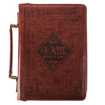 Bible Cover Classic Medium: Words of God, Dark Brown Luxleather