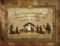 Christmas Boxed Cards: Nativity Silhouette, Scripture