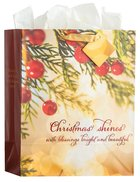 Christmas Gift Bag Large: Christmas Shines (Incl Tissue Paper & Gift Bag) (Psalm 118:27) (Bokeh)