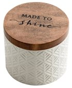Textured Keepsake Box: Made to Shine, Cream Outside/Pale Pink Inside Homeware