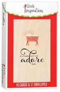 Christmas Boxed Cards Little Inspirations: O Come Let Us Adore Him (Luke 2:7) Box