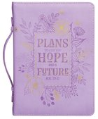 Bible Cover Trendy Large Plans to Give You Hope and a Future, Purple Floral Luxleather (Jer 29:11)