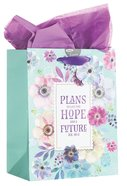 Gift Bag Medium: Plans to Give You a Hope and a Future, Floral (Jer 29:11) Stationery