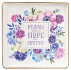 Ceramic Trinket Tray: Plans to Give You Hope and a Future, Floral (Jer 29:11) Homeware