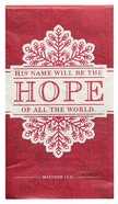 Christmas Large 6-Fold Paper Napkins: Hope (Red/Grey) (20 Pk)