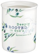 Ceramic Kitchen Utensil: Deeply Rooted in God's Love, Blue/White Olive Branch Homeware