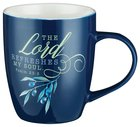 Ceramic Mug: The Lord Refreshes the Soul, Navy/White (Olive Branch Collection) Homeware