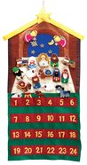 Advent Calendar Felt Fabric: 24 Pieces With Velcro Backs Calendar