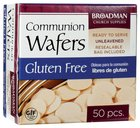 Communion Bread Gluten Free Wafers, 50 Wafers, Re-Sealable Pouch Box