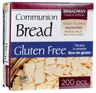 Communion Bread Gluten Free, 200 Baked Squares, Re-Sealable Pouch Box