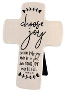 Cross Ceramic Hand Drawn Doodles: Choose Joy (John 15:11) Plaque