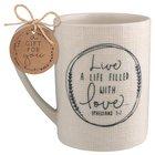 Ceramic Mug Hand Drawn Doodles: Love (Ephesians 5:2)