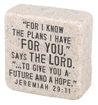 Cast Stone Plaque: His Plans Scripture Stone, Cream (Jeremiah 29:11) Plaque