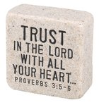 Cast Stone Plaque: Trust Scripture Stone, Cream (Proverbs 3:5-6) Plaque