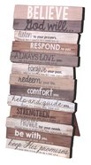 Stacked Word Wall Plaque: Believe, Mdf/Paper, Desktop