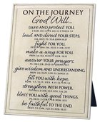 Plaque Cast Stone Word Study: Journey, Cream, Various Scriptures Plaque