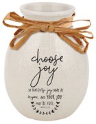 Ceramic Vase Hand Drawn Doodles: Choose Joy (John 15:11) Homeware