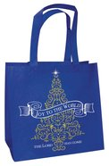 Christmas Eco Tote Bag Gold Ink: Joy to the World the Lord Has Come, Tree